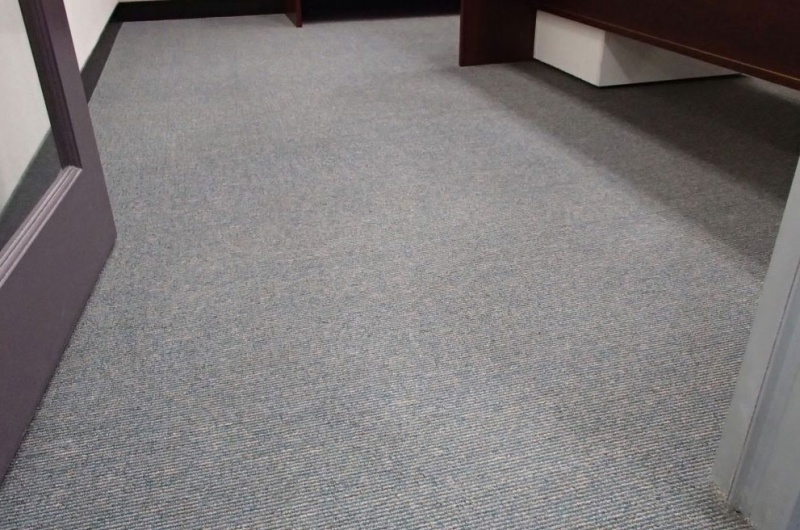 commercial carpet after